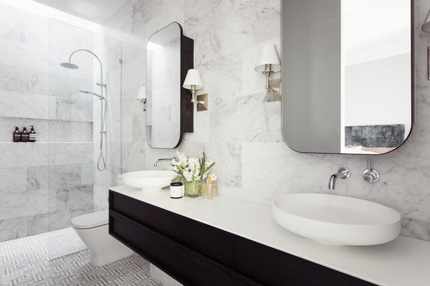 Transitional Bathroom by Danielle Trippett Interior Design
