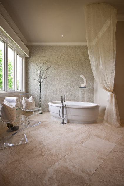 contemporary bathroom by Laura Burton Interiors