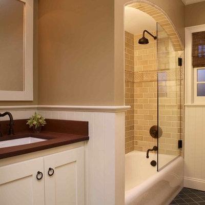 Inspiration for a timeless ceramic tile bathroom remodel in San Francisco