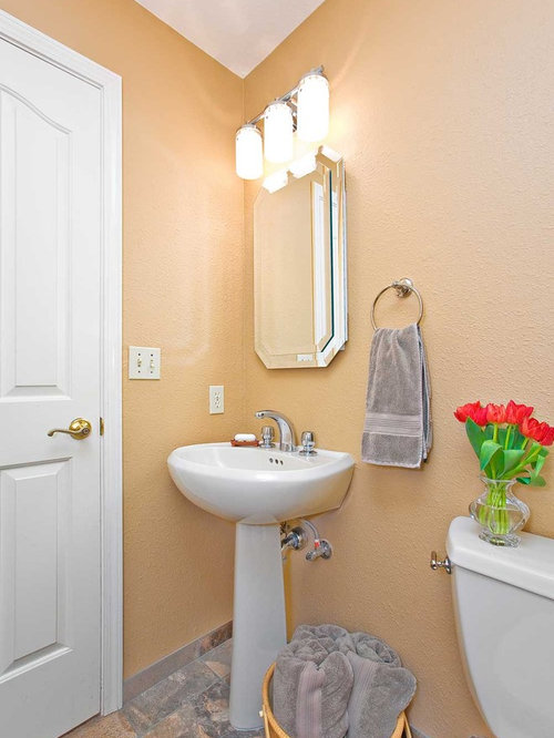 Peach bathroom houzz Peach bathroom