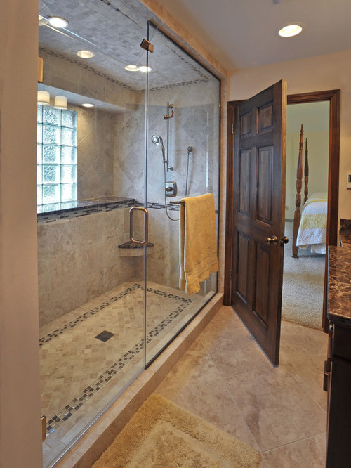 5x8 Double Shower Design Ideas Remodels Photos With Yellow Walls