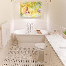 Eclectic Bathroom by Modern Craft Construction, LLC