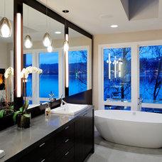 Contemporary Bathroom by GDW/a pllc