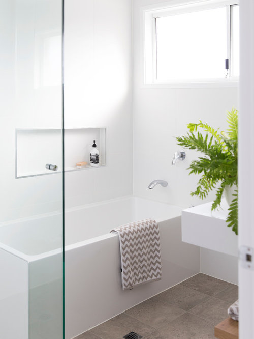 Scandinavian Bathroom Design Ideas Renovations Photos With A Corner Tub