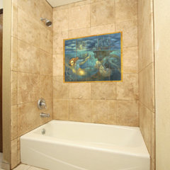 contemporary bathroom by Pacifica Tile Art Studio