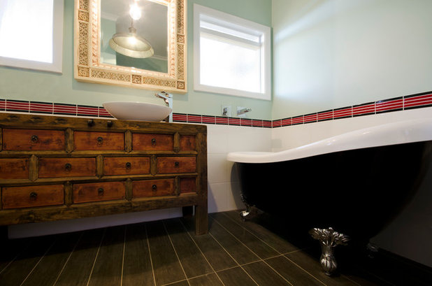Eclectic Bathroom by Key Piece