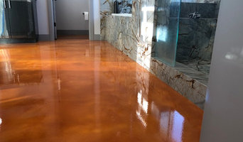 Metallic Epoxy @ General Contractor's Home