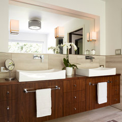 modern bathroom by Ingrained Wood Studios: The Lab