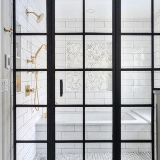 Metropolis Series Windowpane Shower Door Enclosure