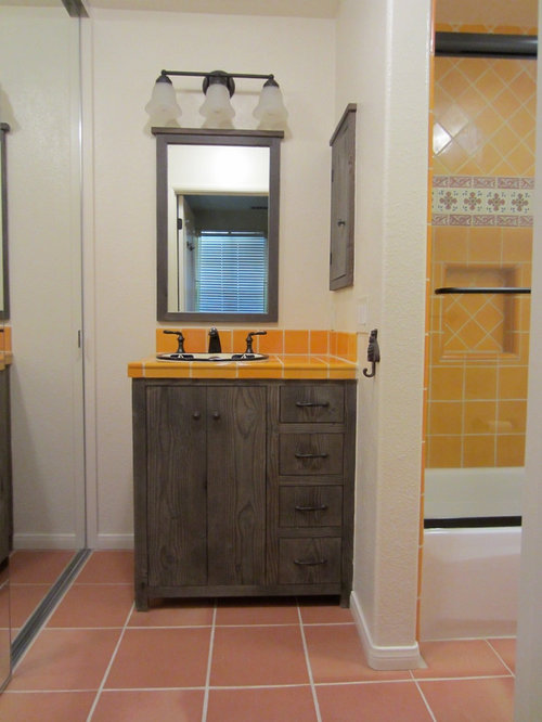 Rustic Bathroom Design Ideas Renovations Photos With Yellow Tiles