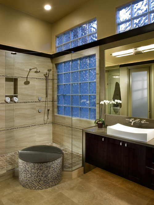 Glass Block Shower Wall Home Design Ideas Pictures