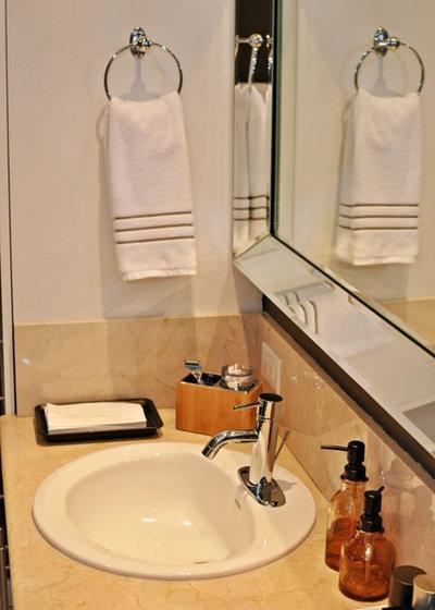 Epic Contemporary Bathroom by Nicole White Designs Interiors LLC