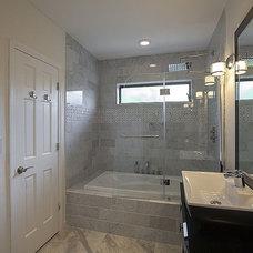 Transitional Bathroom by Advantage Developer & Constructor