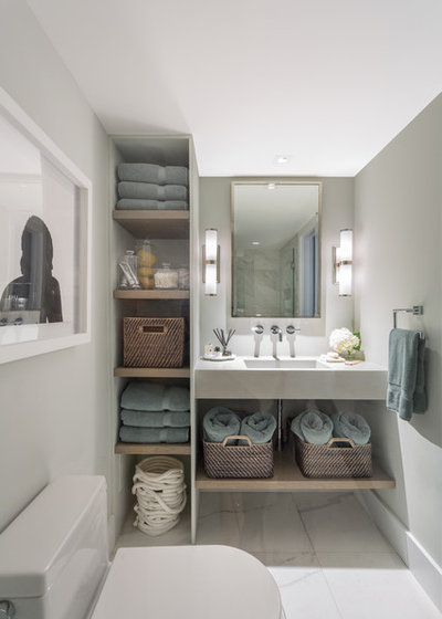 Contemporary Bathroom by Tanya Capaldo Designs