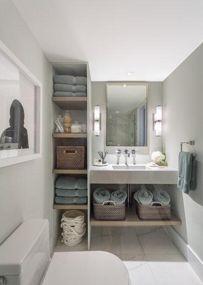Contemporary Bathroom by Tanya Capaldo Designs