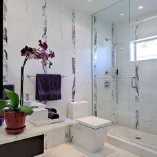 Contemporary Bathroom by Marmiro Stones, Inc