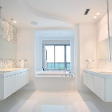Contemporary Bathroom by Catherine Condoroussis Design