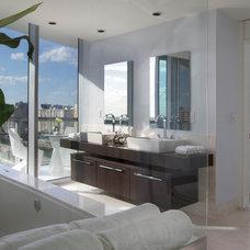 Contemporary Bathroom by Britto Charette Interiors - Miami Florida