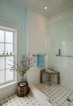 Standing Shower For Elderly Glass Door Or Curtain
