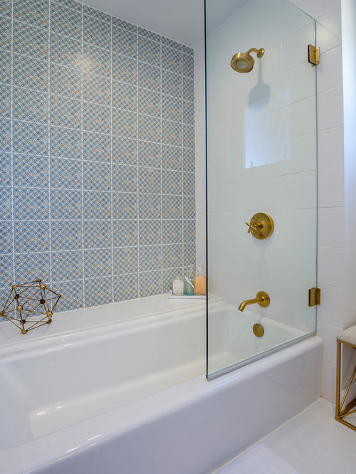 Bathroom Tiles Los Angeles bathroom with white tile ideas, designs & remodel photos | houzz