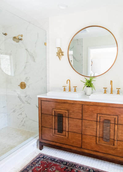 Midcentury Bathroom by The Kitchen Studio, Inc.