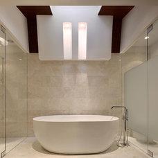 Modern Showerheads And Body Sprays by DREXLER SHOWER DOOR CO INC