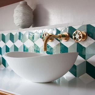 Свежая идея для дизайна: ванная комната в стиле ретро - отличное фото интерьера