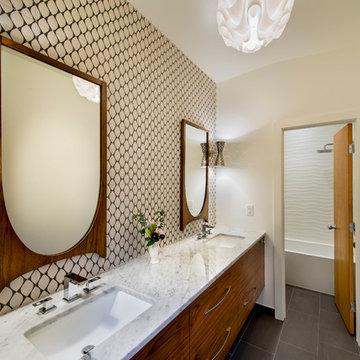 Mid Century Modern Bathroomwhtie