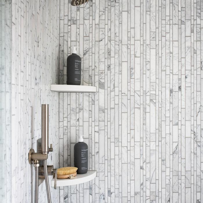 Modern Shower marble tile
