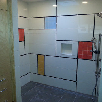 Mid Century Modern Curbless Shower