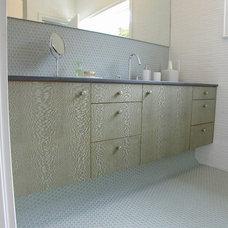 Modern Bathroom by Dedham Cabinet Shop, Inc.