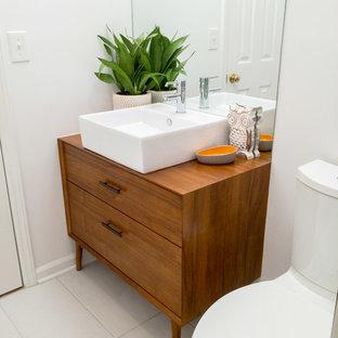 Mid-century Modern Guest Bath