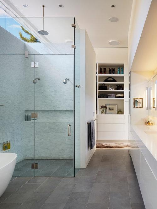 100+ Midcentury Modern Matchstick Tile Freestanding Bathtub Ideas ...