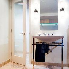 Midcentury Bathroom by Kraft Custom Construction