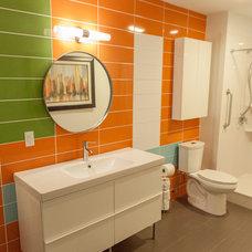 Midcentury Bathroom by Sardone Construction