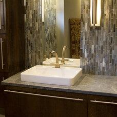 Midcentury Bathroom by Elizabeth Monical Interior Design