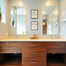 Midcentury Bathroom by T.A.S Construction