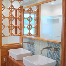 Midcentury Bathroom by MODERN RENOVATIONS