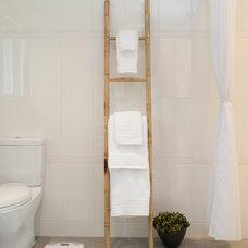 Midcentury Bathroom by Lucy Johnson Interior Design