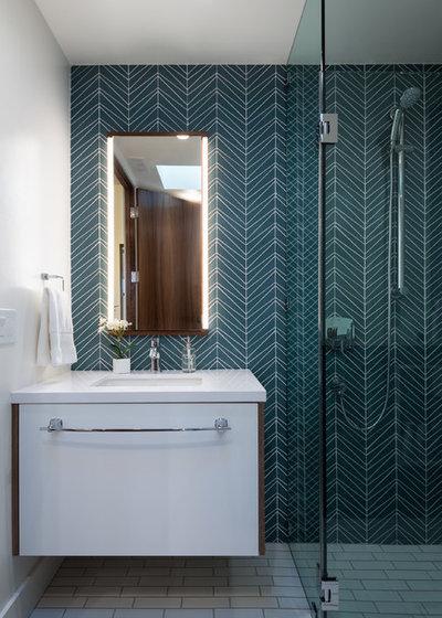Midcentury Bathroom by Nena Aziz Interiors