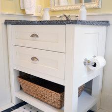Farmhouse Bathroom by Mid Island Cabinets