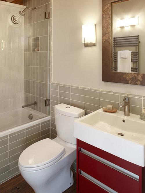 salle de bain r233tro avec un sol en bois fonc233 photos et