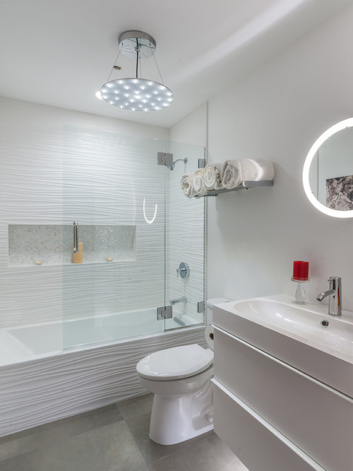 Bathroom design ideas remodels photos with a two piece for Two piece bathroom ideas