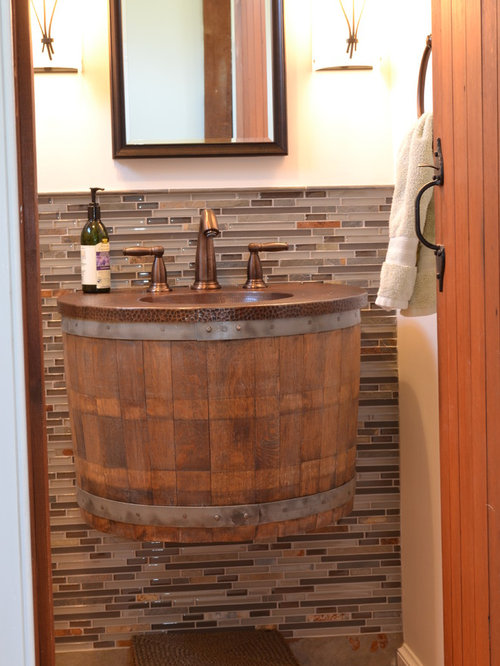 Wine Barrel Bathroom Design Ideas, Remodels & Photos