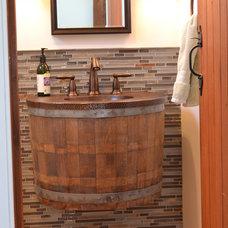 Farmhouse Bathroom by Northwood Construction, Inc.