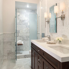 Traditional Bathroom by Hirshson Design Group