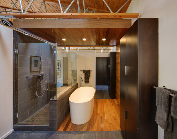 Beautiful Contemporary Bathroom by Bruns Architecture