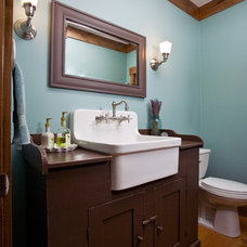 farmhouse bathroom by Murphy & Co. Design