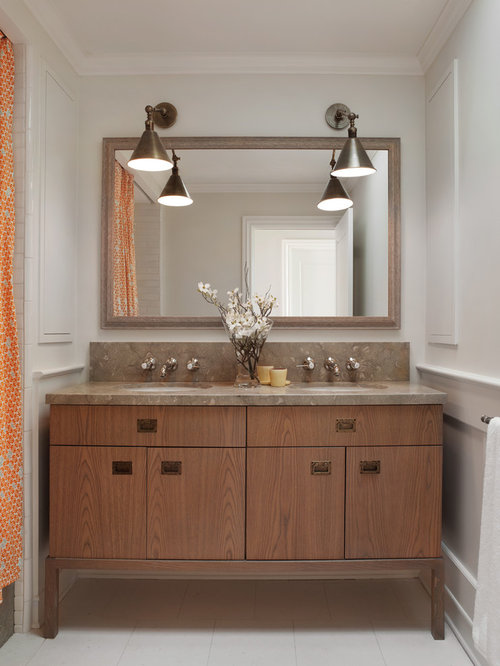 Inspiration for a timeless bathroom remodel in San Francisco with flat ...