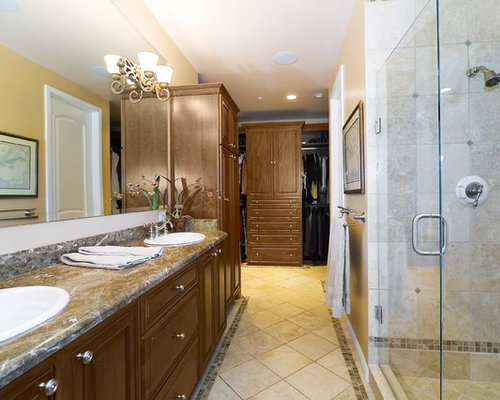 Elegant Bathroom Photo In San Francisco With Marble Countertops